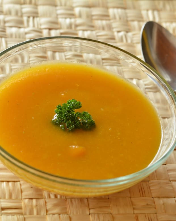 Roasted butternut squash coconut soup