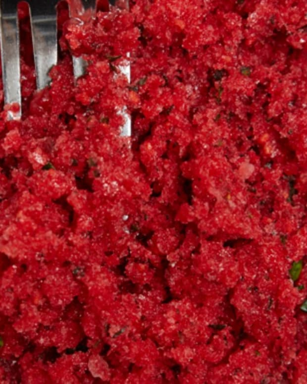 Berry Basil Granita