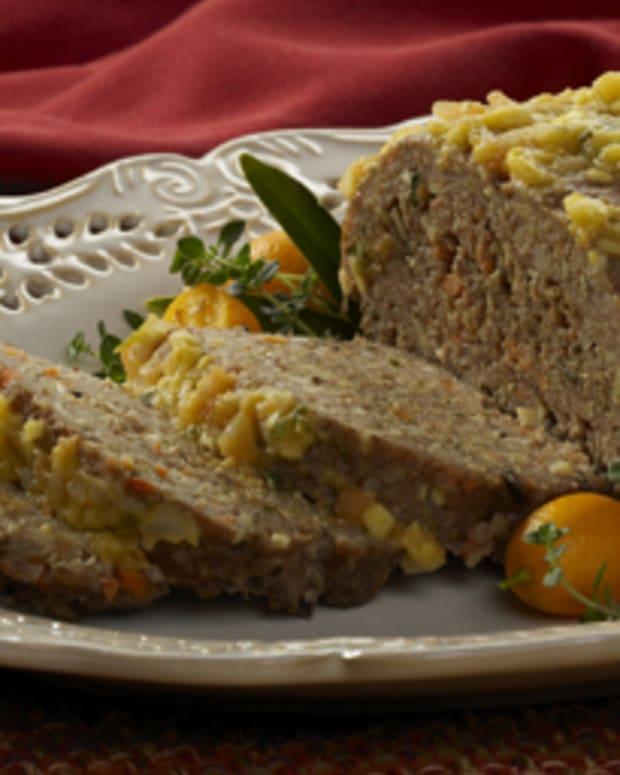 Turkey Walnut Mushroom Meatloaf