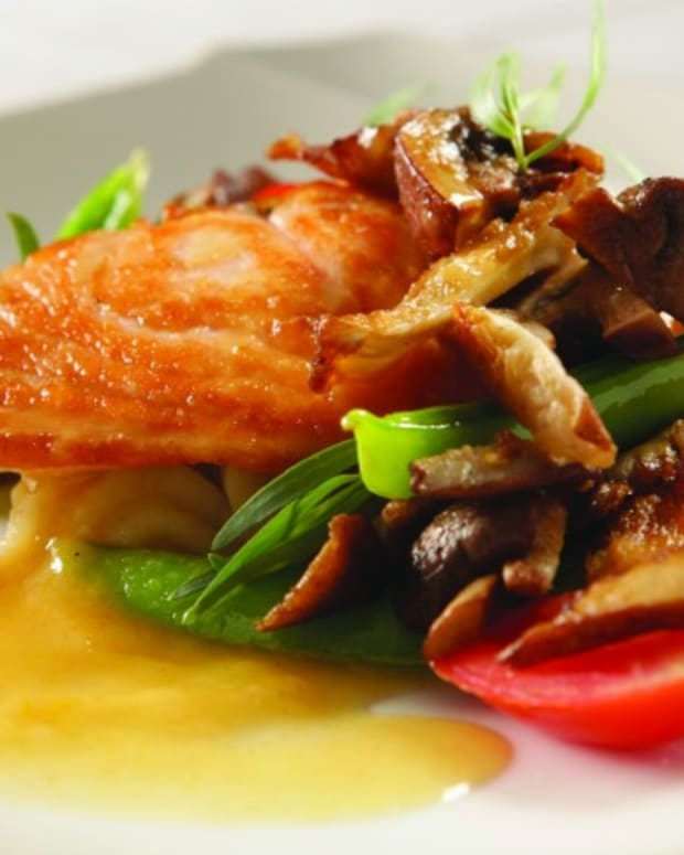 Jeff Nathan's Pan Roasted Salmon with Summer Vegetables