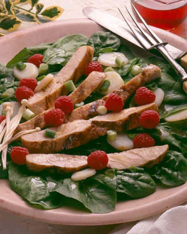 Grilled Turkey Salad with Raspberry Vinaigrette