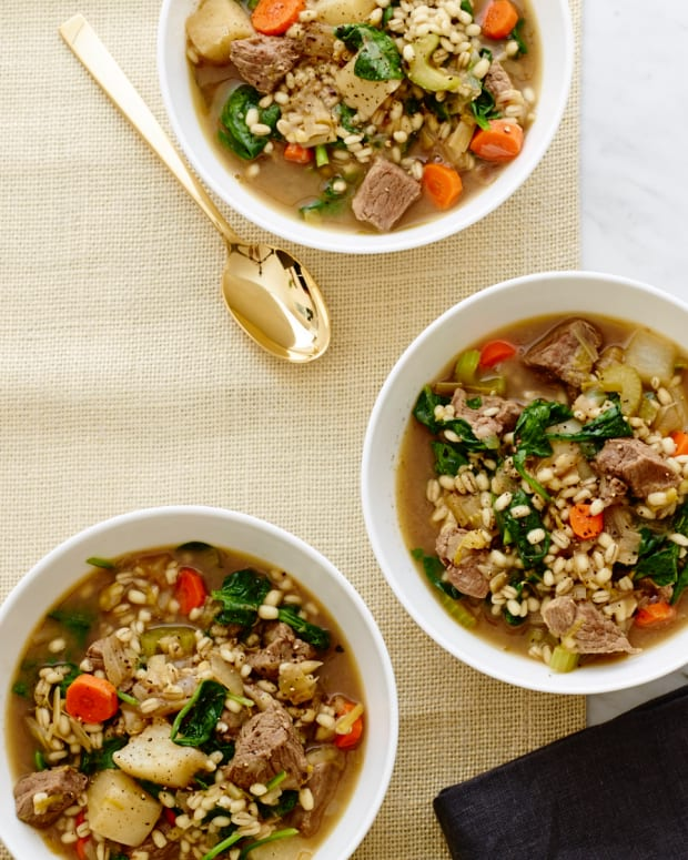 Spinach Lamb and Leek Slow Cooker Stew