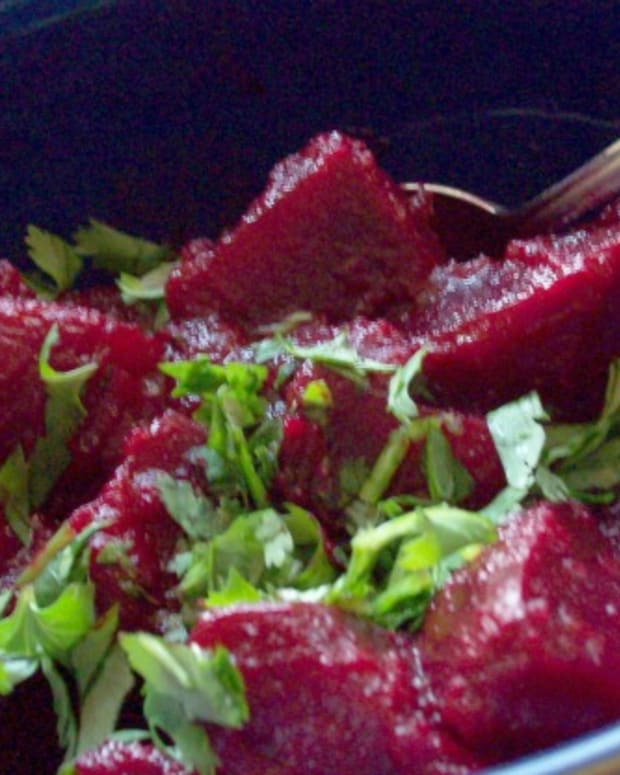 Roasted Beet Salad with Cumin and Cilantro