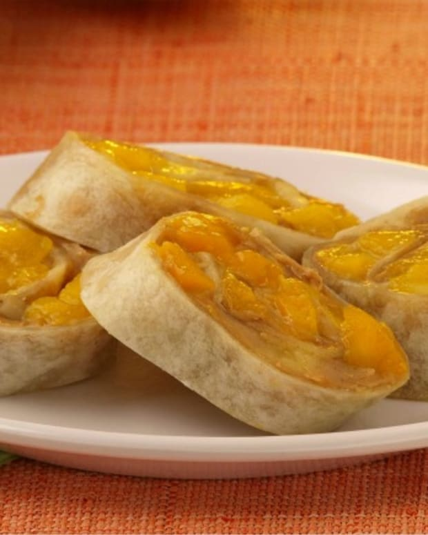 Peanut Butter, Mango and Honey Roll Ups