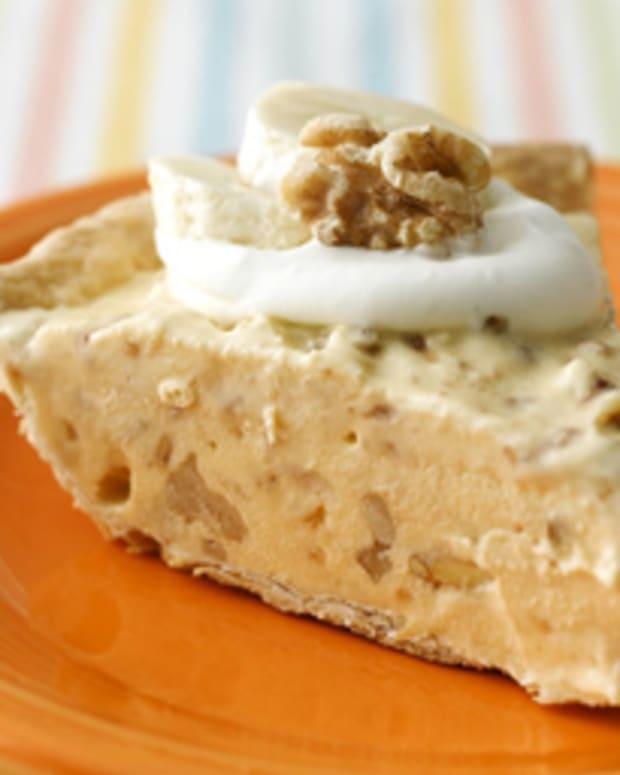 Frozen Banana Walnut Toffee Pie