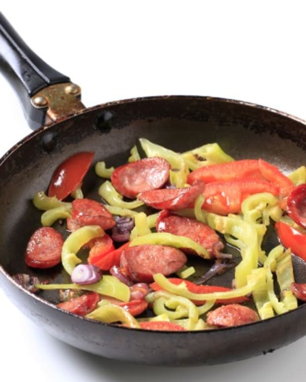 sausage with peppers and onions