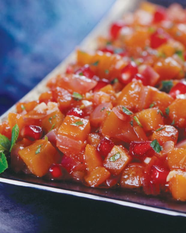 pomegranate eggplant relish
