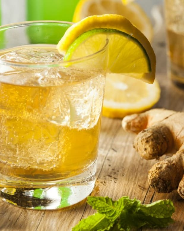 Triple G Cocktail with gin, St. Germain and Ginger Beer