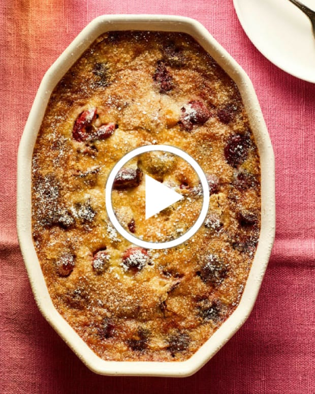 cherry clafoutis video