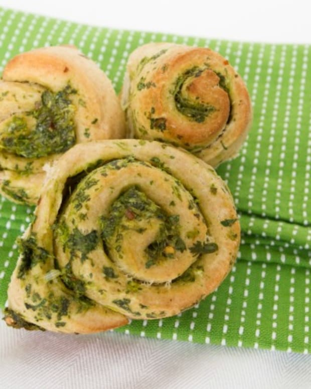 cilantro scallion rolls