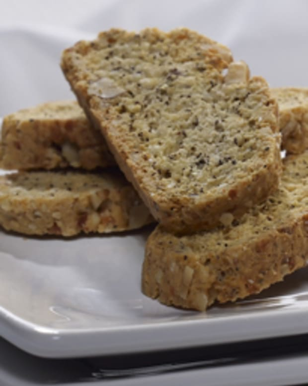 Walnut Asiago & Black Pepper Biscotti