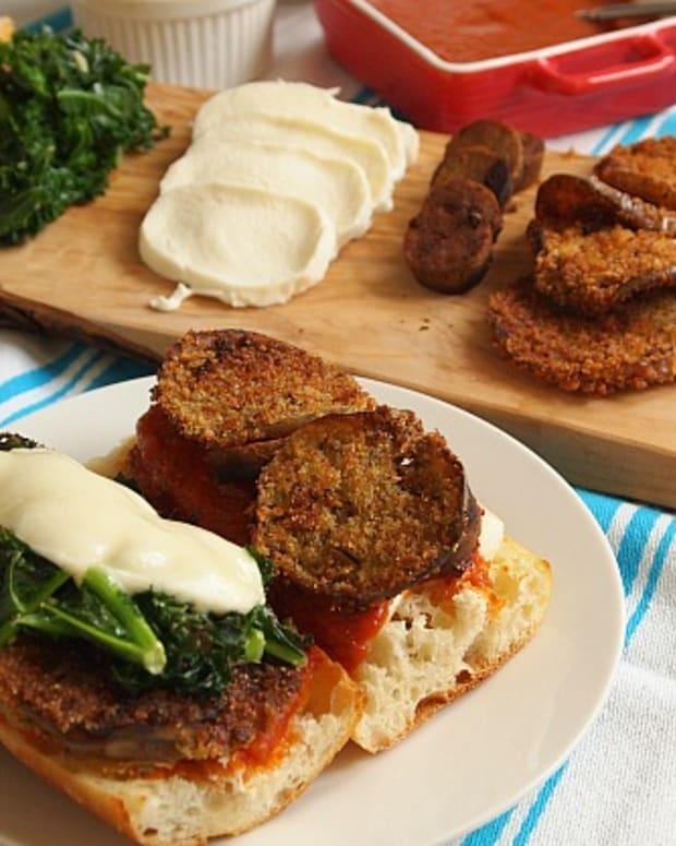 Make your own Eggplant Parmesan Sandwiches