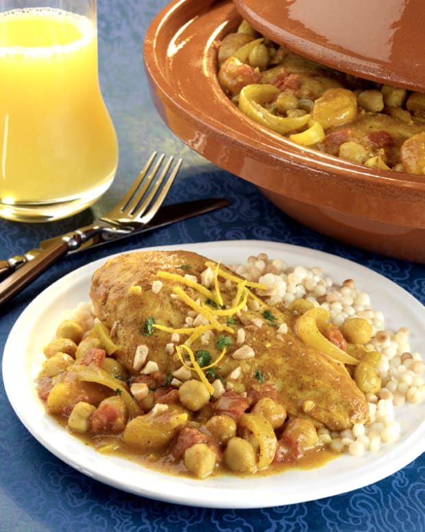 Orange-Apricot Chicken Tagine