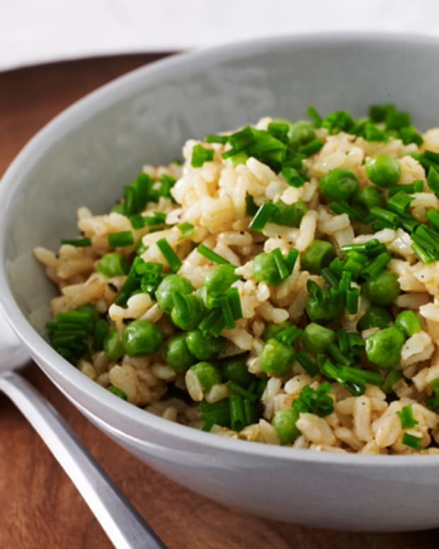 Spiced Brown Rice with Peas