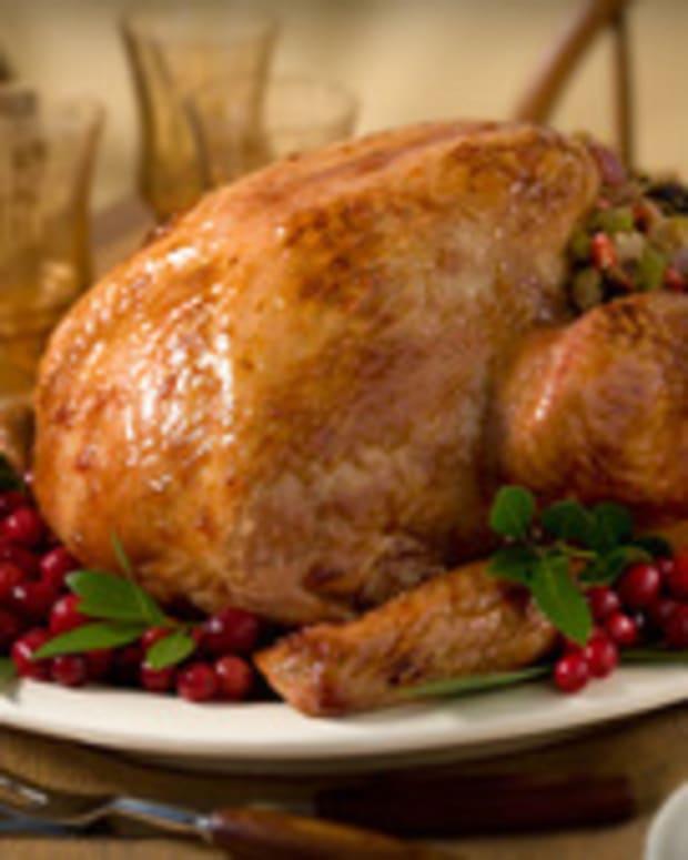 Roast Turkey with Cranberry Orange Glaze