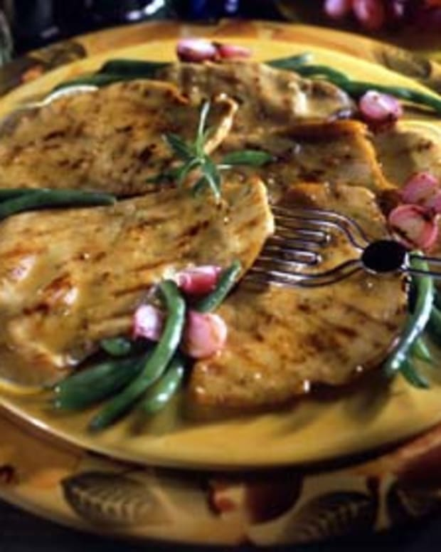 Grilled Turkey Scaloppini with Dijon Sauce