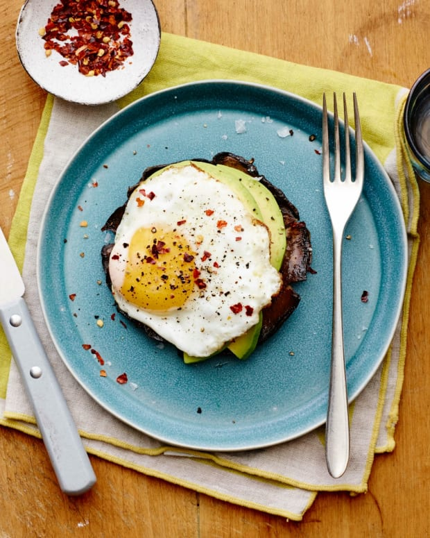 Breakfast Portobello Eggs horizontal