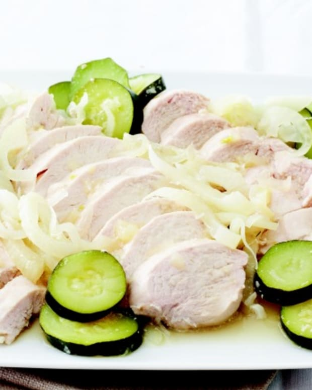 White Wine Poached Chicken with Dill