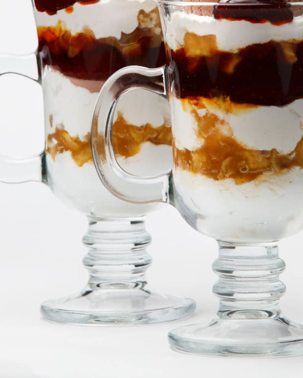 kahlua toasted coconut and ice cream parfait