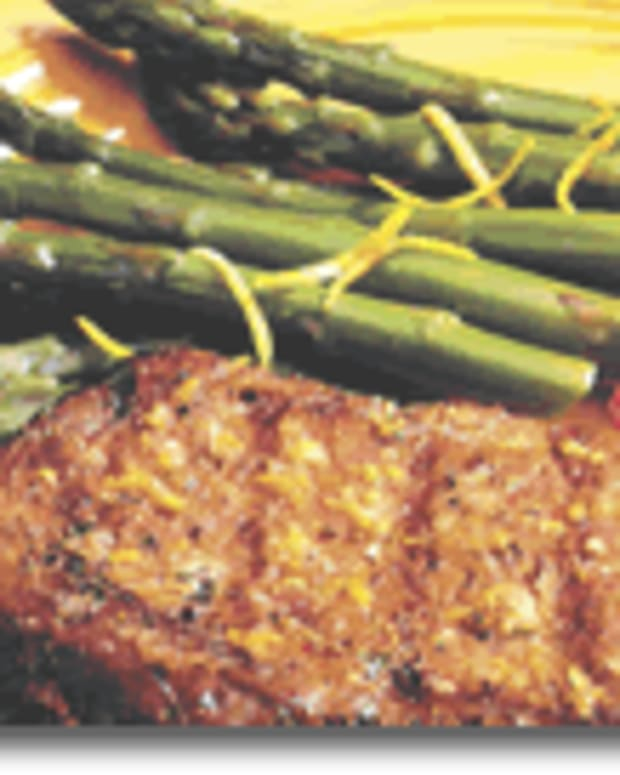 Grilled Prime Rib with California Jumbo Asparagus