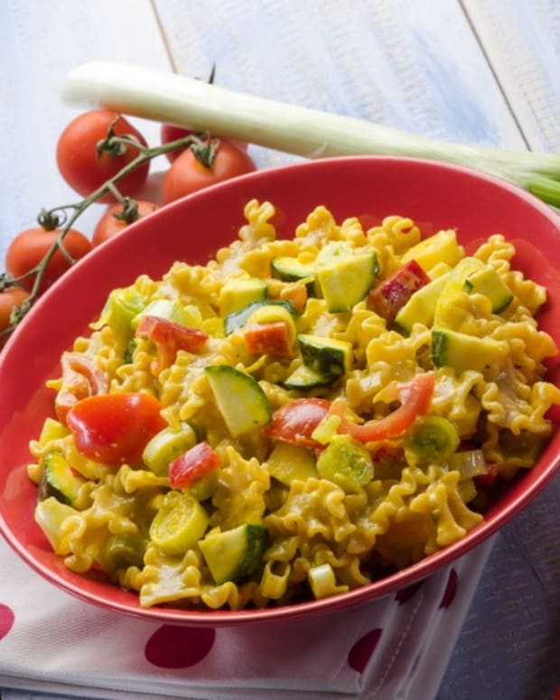 vegetables and pasta
