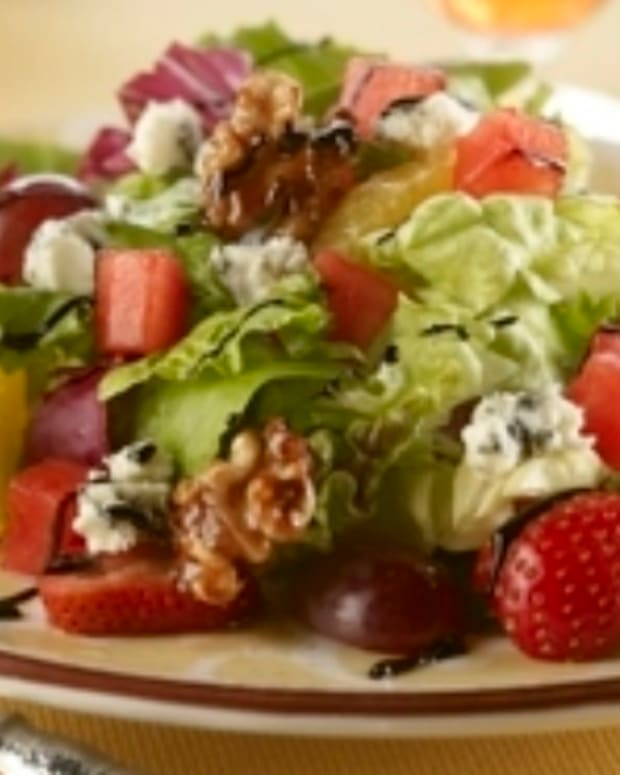 Blue Watermelon Walnut Salad