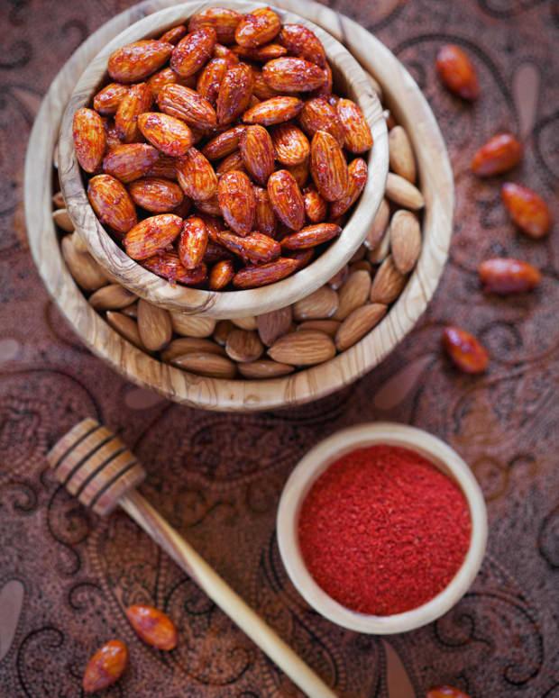 spicy honey glazed nuts