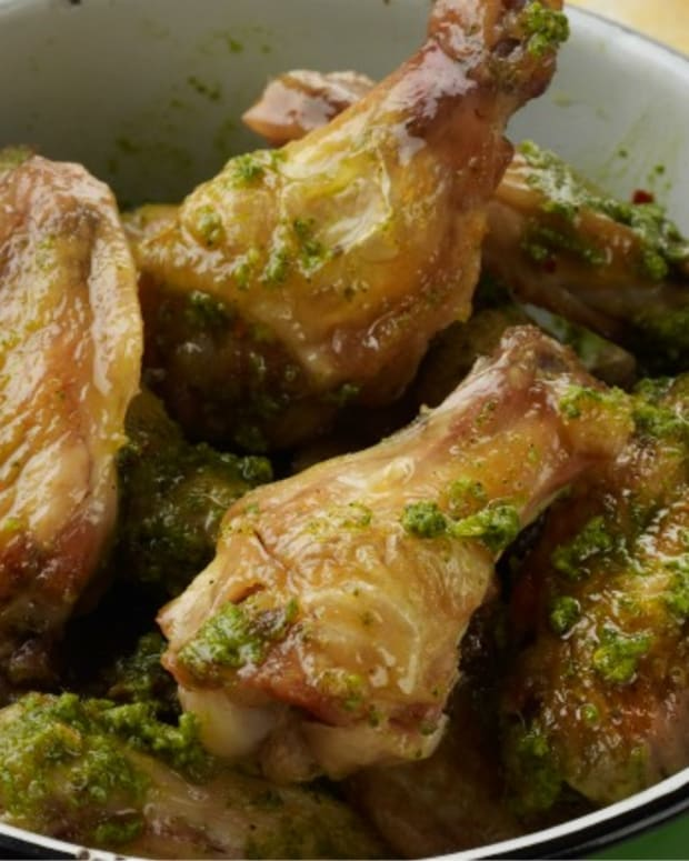 Lemon-Pesto Chicken Wings