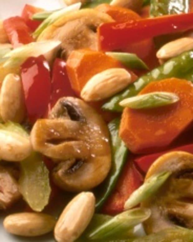 Almond jade stir fry