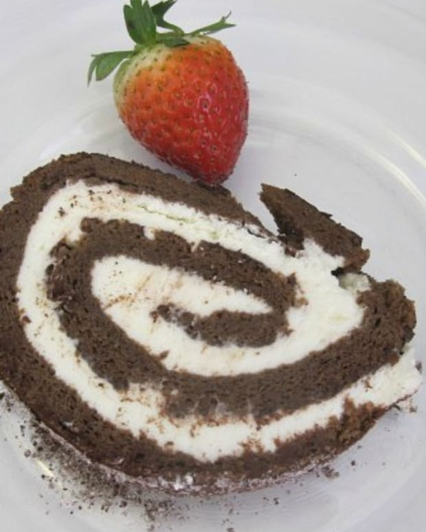 passover chocolate cake jelly roll