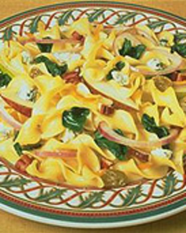 Tangy Pear 'N Pecan Noodle Salad