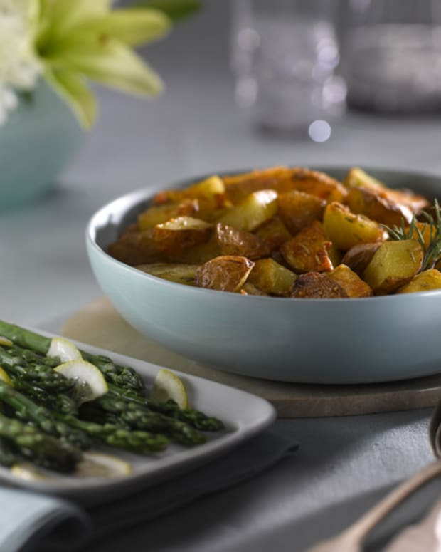 roasted rosemary red-skin idaho potatoes