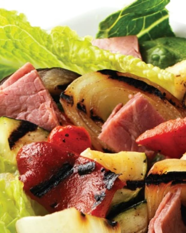 Roasted Veg and Pastrami Salad Pic