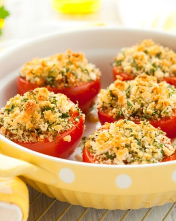roasted tomatoes with blue cheese