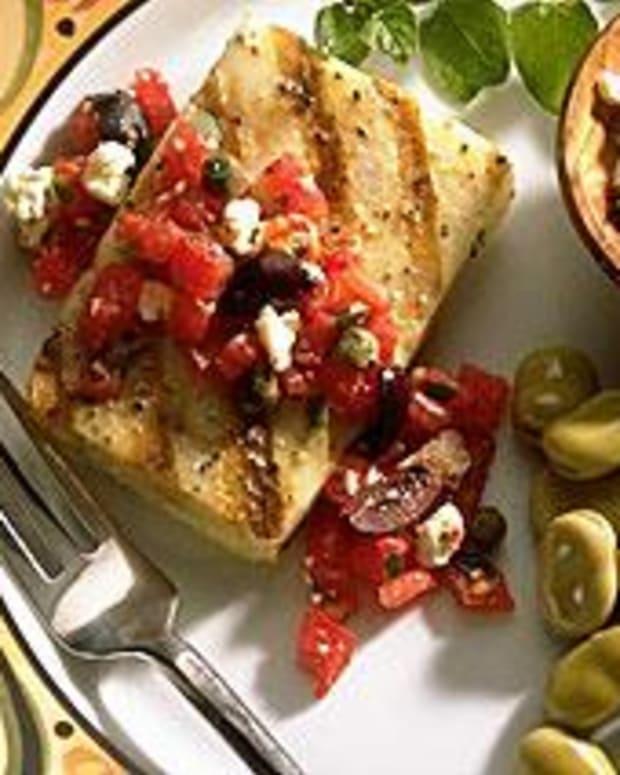 Cod Fillets with Greek Salsa