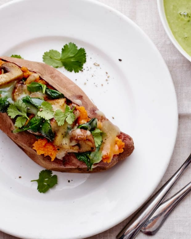 Chipotle Mushroom Stuffed Sweet Potatoes