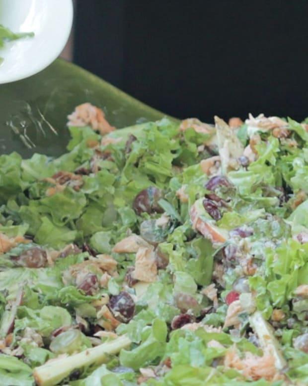 salmon waldorf salad
