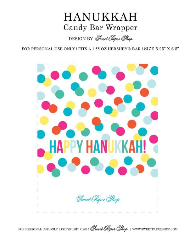 Printable Chanukah Candy Wrapper