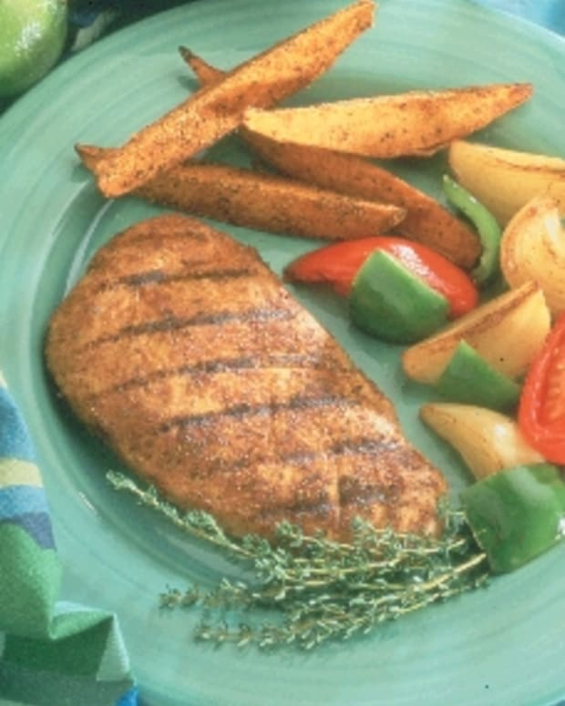 Jamaican Turkey Cutlets with Vegetables