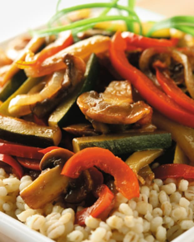 Barley with Caramelized Vegetables