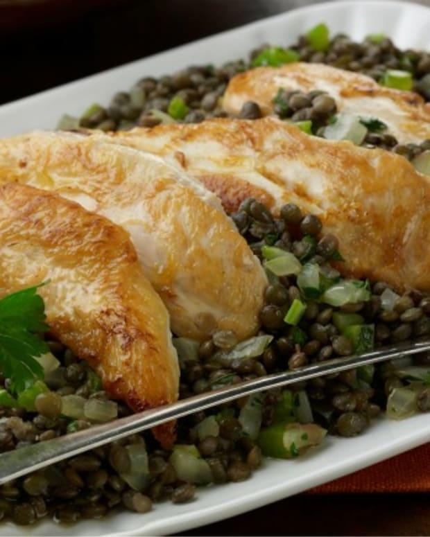 Warm Chicken-Lentil Salad