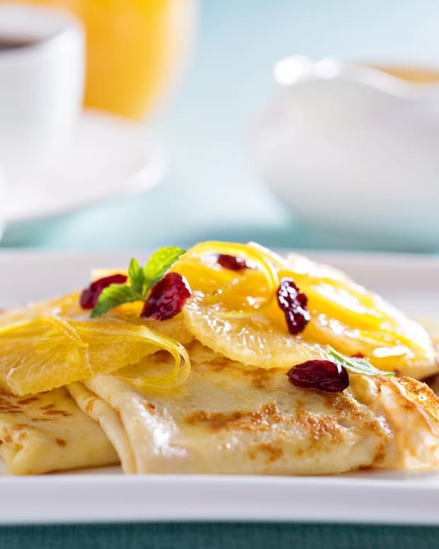 Cranberry Orange Crepes