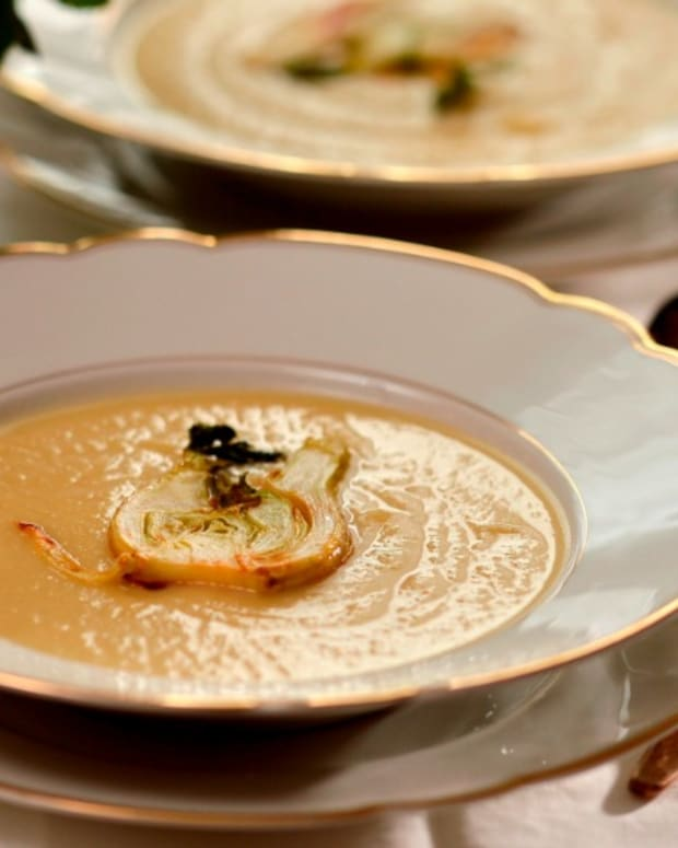 Fennel soup wide