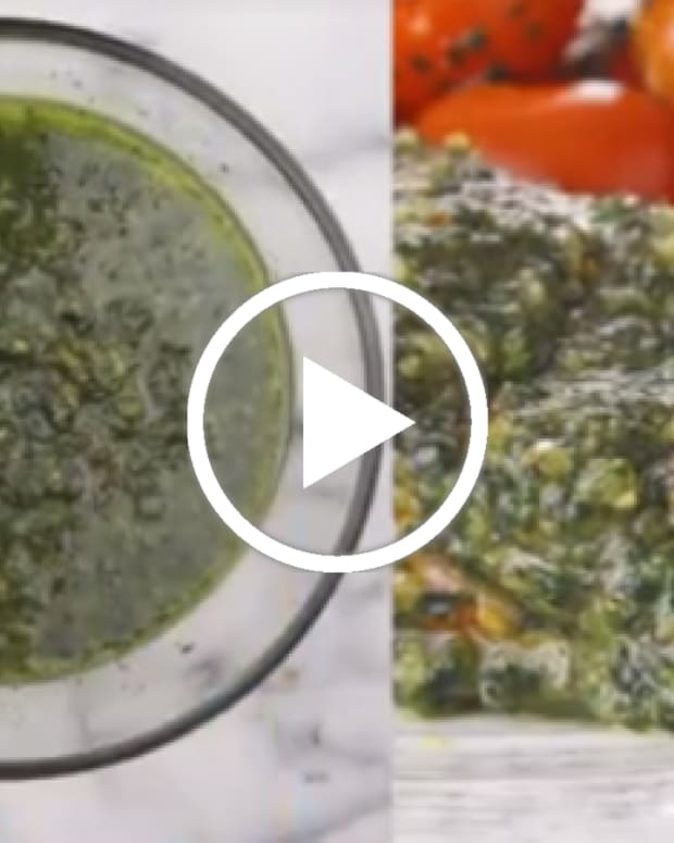 kale almond pesto with 3 recipes to use it