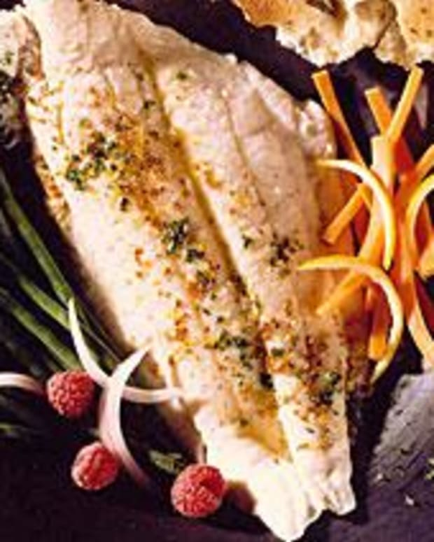 Flounder Fillets with Carrot Coins