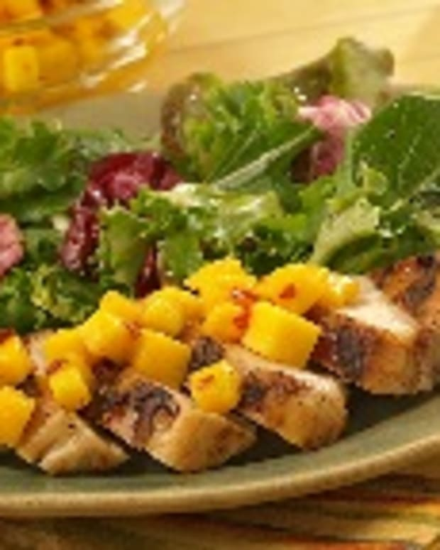 Jerk Chicken with Spicy Mango Topper