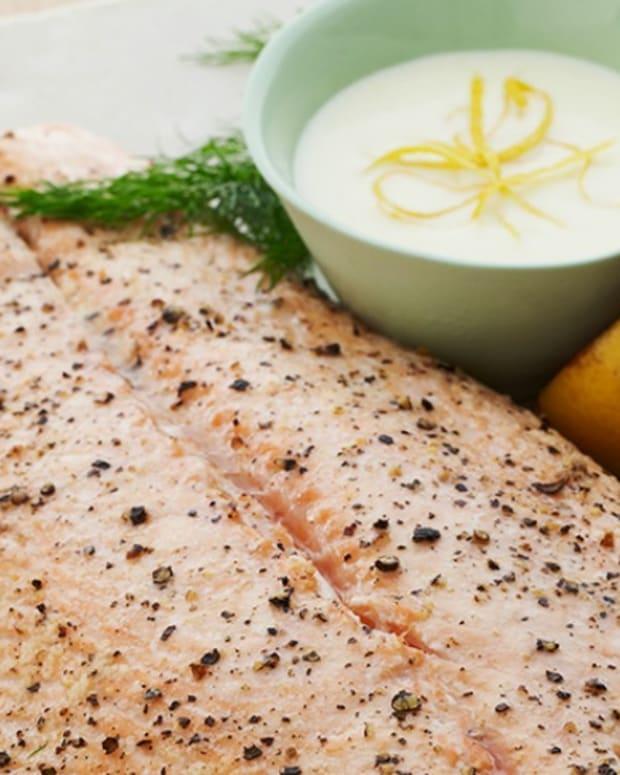 Salmon with Lemon Velvet Cream Sauce
