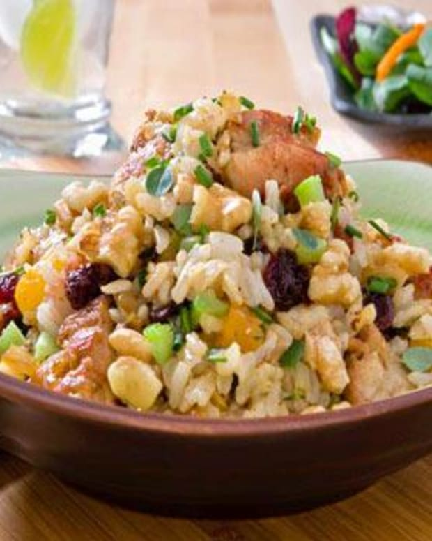 "Chicken, Walnut & Brown Rice ""Family Favorite"" Stir Fry"