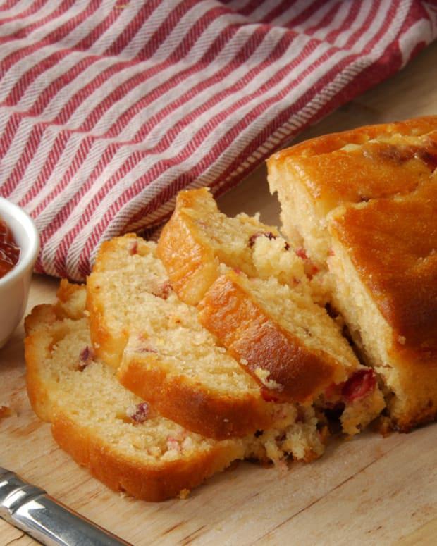 grape and cranberry tea bread