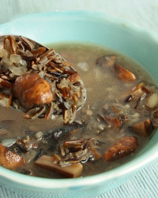 Wild Rice and Mushroom Soup